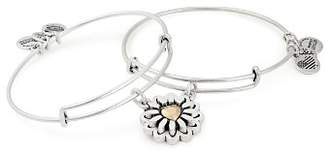 Alex and Ani You Are My Heart Expandable Bangles, Set of 2