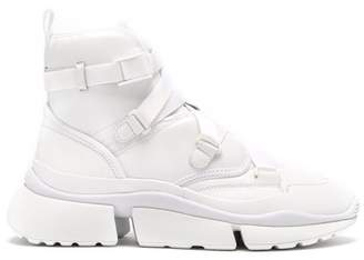 Chloé Sonnie Raised Sole High Top Trainers - Womens - White
