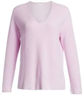 A.L.C. (エーエルシー) - A.L.C. A.L.C. Women's Sierra V-Neck Rib-Knit Sweater - Pale Lavender - Size XS