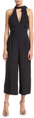J.o.a. Tie-Neck Culotte Jumpsuit