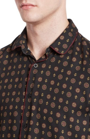 Men's The Kooples Piped Print Sport Shirt 3
