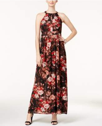 Nine West Floral-Print Maxi Dress