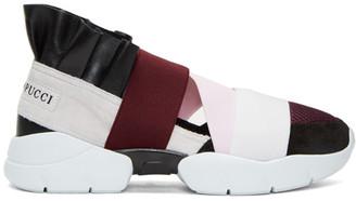 Emilio Pucci Black & Grey Colorblock Sneakers $550 thestylecure.com