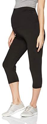 Belabumbum Women's Maternity Cropped and After Workout Capri Legging
