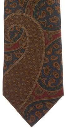 Burberry Paisley Print Silk Tie
