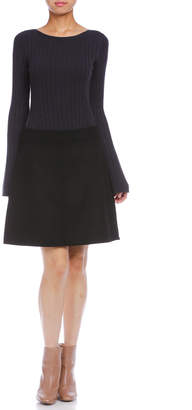 Comptoir des Cotonniers シルク混 スカート ブラック 36