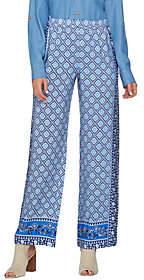C. WonderC. Wonder Petite Engineered Print Woven Pull-On Pants