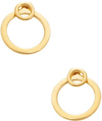 A Peace Treaty 24K Gold-Plated Hoop Earrings