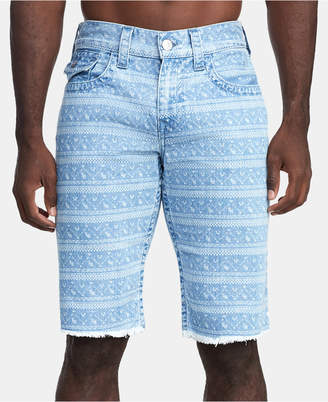 True Religion Men's Ikat-Print Ricky Flap Shorts