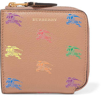 Burberry Embossed Textured-leather Wallet - Camel