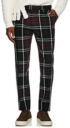 Undercover Men's Plaid Wool Skinny Trousers - Green