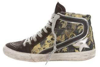 Golden Goose Printed Slide Sneakers