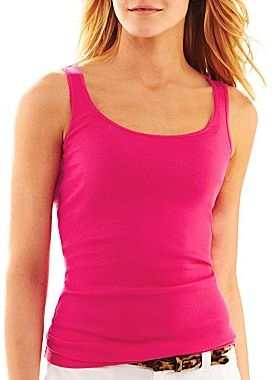 JCPenney jcpTM Ribbed Tank Top - Petite