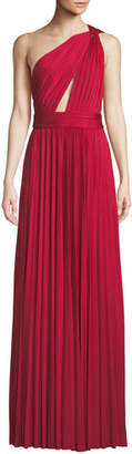Jill Stuart Cibele Pleated 1-Shoulder Jersey Gown