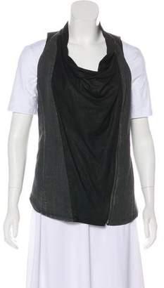 Helmut Lang & Leather Vest