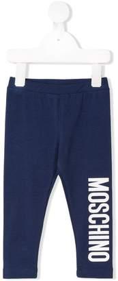 Moschino Kids logo print leggings