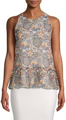 LIKELY Bayard Floral-Print Top