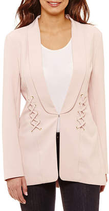 Bold Elements Sexy Stretch Lace Up Blazer