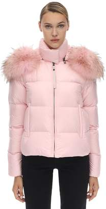 Mr & Mrs Italy Mr&Mrs Italy Short Puffer Jacket W/ Fur Trim