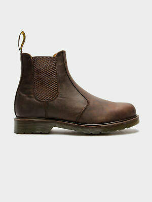Dr. Martens New Unisex 2976 Crazy Horse Chelsea Boots In Gaucho Brown