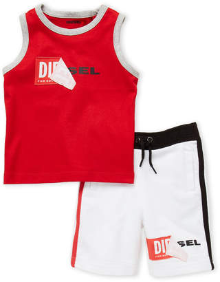 Diesel Infant Boys) Two-Piece Peel-Off Logo Tank & Shorts Set