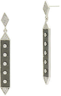 Freida Rothman Linear Hammered Drop Earrings