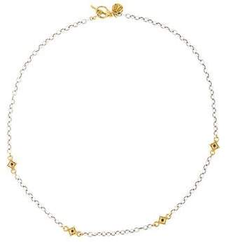 Armenta Heraldry Black Diamond Station Necklace