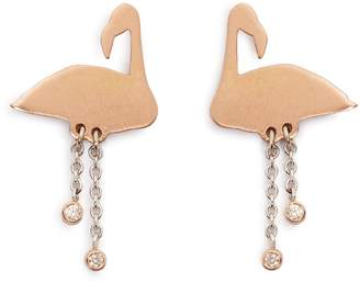 Marc Alary Diamond & pink-gold earrings