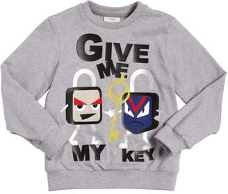 Fendi Key Lock Print Cotton Sweatshirt