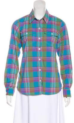 Patagonia Plaid Button-Up Top