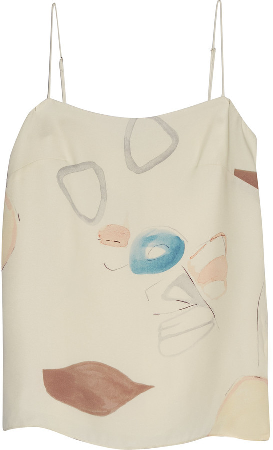 ADAM By Adam LippesAdam Lippes Printed silk camisole