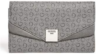 Factory GUESS Women's Dryden Flap Wallet