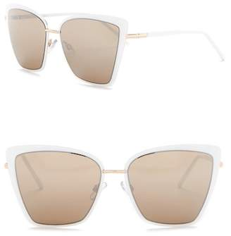 Steve Madden 55mm Mirrored Cat Eye Sunglasses