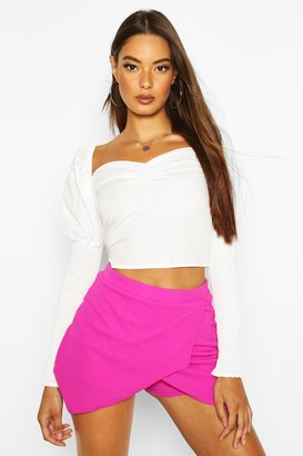boohoo Basic Solid Colour Skort