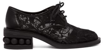 Nicholas Kirkwood Casati Mesh Derby Shoes - Womens - Black