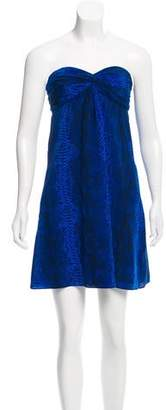 Jay Godfrey Strapless Silk Mini Dress