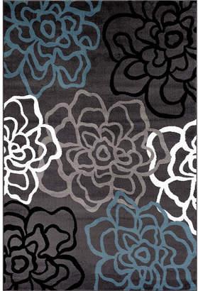 WORLD RUG GALLERY Alpine Mod Floral Rectangular Rug
