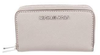 MICHAEL Michael Kors Leather Zip Compact Wallet