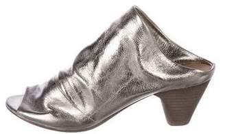 Marsèll Metallic Peep-Toe Mules