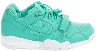 Nike Turquoise Leather Trainers