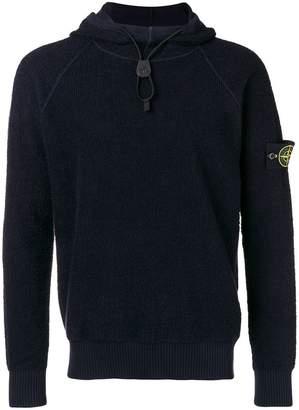 Stone Island drawstring hooded sweatshirt