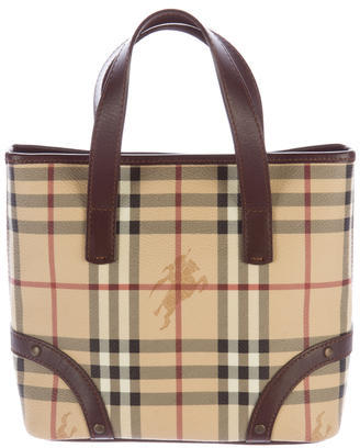 Burberry Haymarket Check Tote $325 thestylecure.com