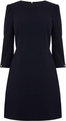 Next Womens Warehouse Black Puff Sleeve Crepe Dress