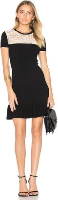 Red Valentino Short Sleeve Drop Waist Mini Dress $750 thestylecure.com