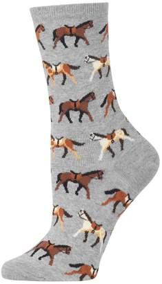Hot Sox Women's Original's Fashion Horses Crew Socks