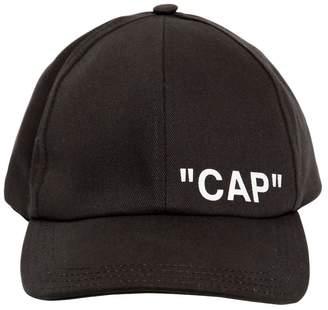 "Off-White ""Cap"" Printed Canvas Baseball Hat"