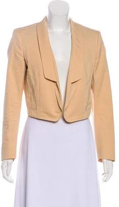 Saint Laurent Cropped Open Front Blazer