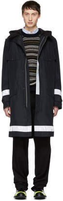 Junya Watanabe Black Layered Gore® Windstopper® Reflective Coat