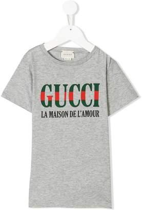0f40010136f9 Gucci Kids logo print T-shirt