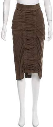 Zero Maria Cornejo Leather Midi Skirt w/ Tags
